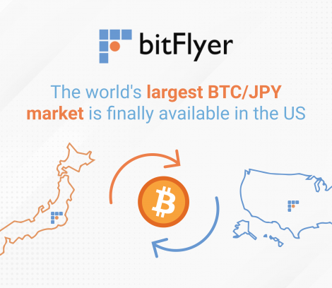 BTC/JPY market is available on bitFlyer US